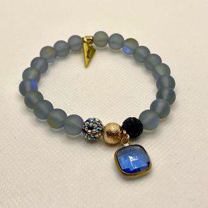 Erimish Mermaid Navy Single Stretch Bracelet